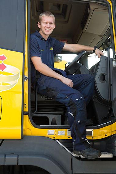 Sam Laurence obtainings Class 2 HGV licence